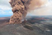 Vulkanen Kilauea på Hawaiis största ö.