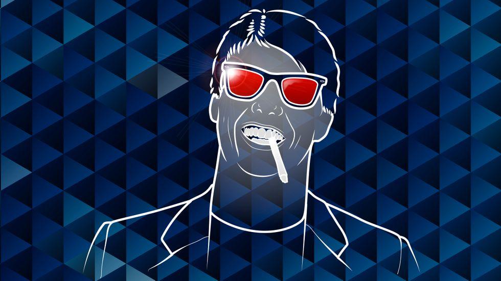 Solglasögon kan bara användas inomhus om du är rockstjärna eller har migrän, säger Sofia Larsson.  Illustration: Thomas Molén