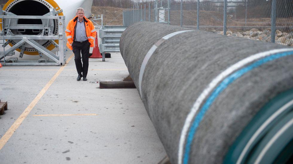 Kommunstyrelsen iKarlshamnsa ja till att lagra rör för gasledningen Nord Stream 2. Arkivbild.