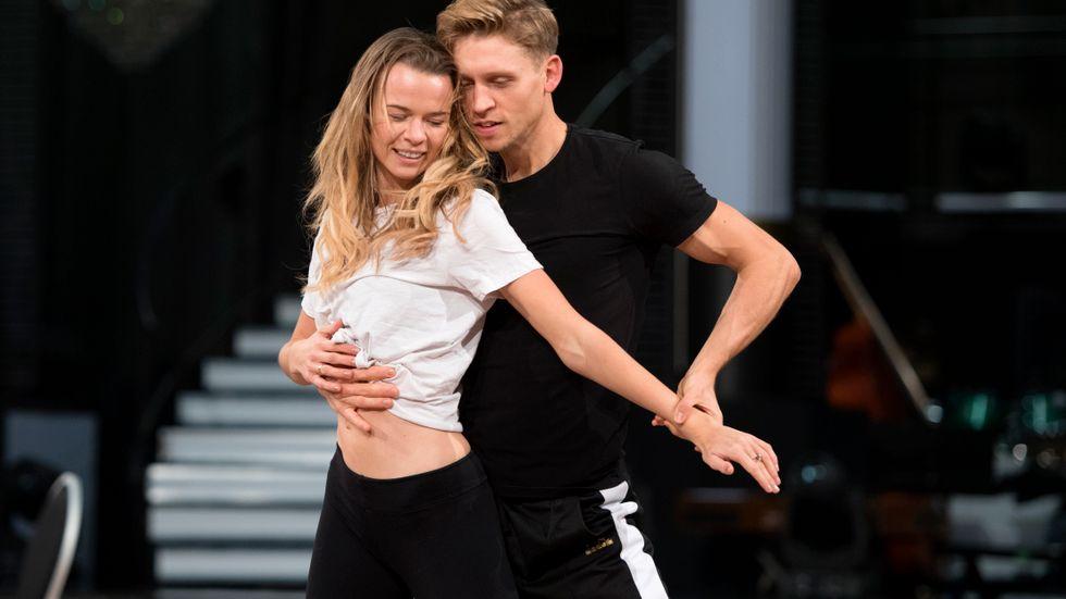"""Margaux Dietz och danspartnern Alexander Svanberg tycker att de har ett bra samspel. """"Han är ganska bestämd, men jag jobbar bra under press"""", säger Margaux Dietz."""