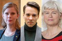 Emma Berginger, Lorentz Tovatt och Karin Svensson Smith.