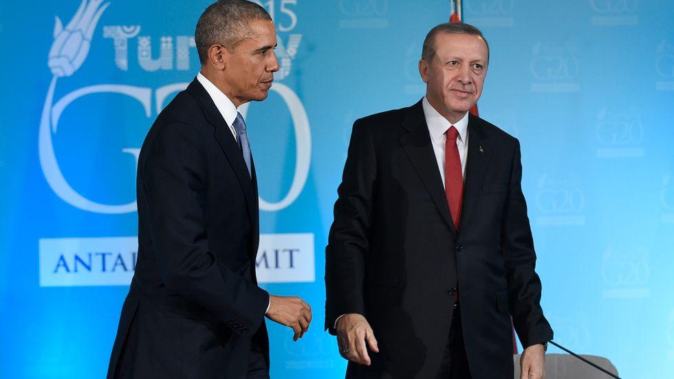 Barack Obama och Recep Tayyip Erdogan.