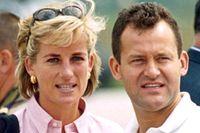 Prinsessan Diana och Paul Burrell under en välgörenhetsresa till Bosnien 1997.