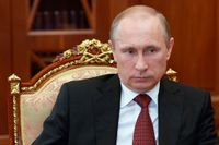 President Vladimir Putin under ett möte i Kreml på midsommaraftonen.