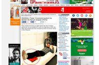 """""""SKANDAL"""" Måns Zelmerlöws vilostund i soffan är nyhetsstoff i bland annat albanska tidningen Panorama."""