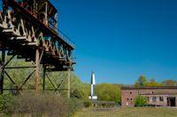 Resterna av den hemliga tyska raketforskningsanläggningen i Peenemünde.