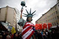 Protester mot det planerade TTIP i Tyskland tidigare i år.