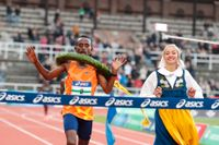 Fikadu Teferi från Etiopien vinner Stockholm marathon 2021.