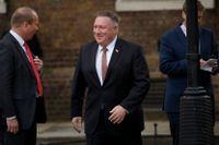 USA:s utrikesminister Mike Pompeo på Downing Street i London.