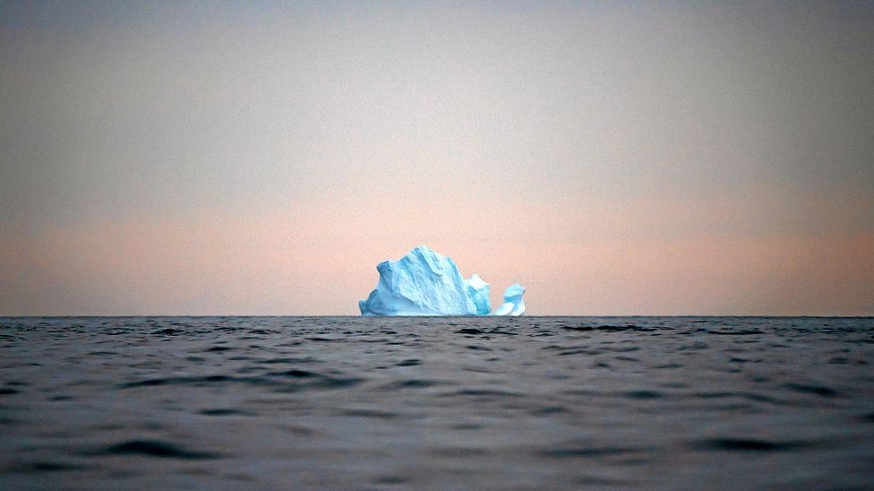Ett isberg nära Kulusuk, Grönland.