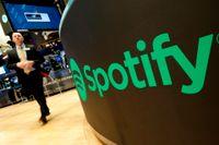 Spotify på New York-börsen.
