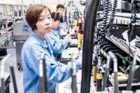 5G-utrustning tillverkas på Ericssons fabrik i Nanjing i Kina, 2018.
