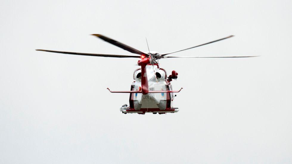 En kvinna i 80-årsåldern är försvunnen nordost om Boden. I sökarbetet har bland annat helikopter använts. Arkivbild.