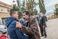 Muhammed Abu Mariam, pappa till Ali. Människor i byn Jadeeda på Västbanken samlas för att dela familjens sorg efter Ali Abu Mariam, som dödades vid Hamra checkpoint förra lördagen.