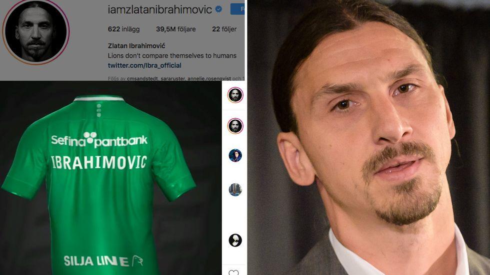 """Zlatan Ibrahimovic la under tisdagsmorgonen upp en video med en Hammarbytröja där det står """"Ibrahimovic"""" på ryggen."""