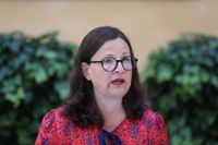 Utbildningsminister Anna Ekström presenterade ett förslag om att digitalisera de nationella proven vid regeringens sommarfika på torsdagen.