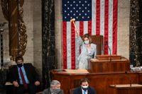 Nancy Pelosi under kongressens öppnande.
