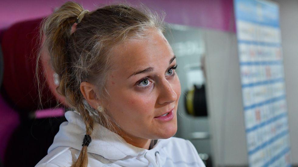 Mindre träning hjälper Stina Nilsson. Arkivbild.