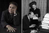 """Ulrika Milles. Till höger: Stig Ahlgren och Birgit Tengroth. Paret porträtteras i Milles bok """"Ensamvargar""""."""