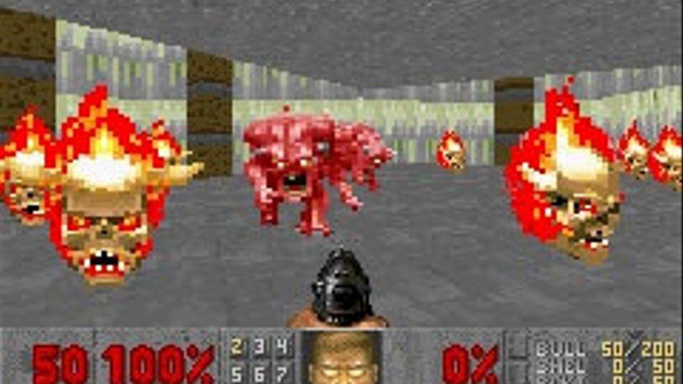 """John Romero har gjort ett gäng nya banor till """"Doom"""" på sin fritid. På bilden en bild från """"Doom II"""" till Game boy Advance. Pressbild."""
