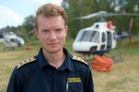 """Räddningschef Johan Szymanski leder insatsen i Älvdalen i Dalarna. Han beskriver problemen med kommunikationssystemet Rakel som """"en säkerhetsrisk"""". Arkivbild."""