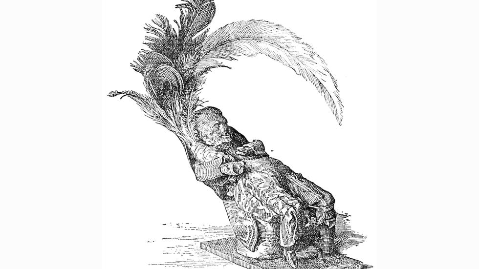 Obeahfigur som konfiskerades från en man vid namn Alexander Ellis 1887. Ellis anklagades för att vara en utövare av obeah i Morant Bay på sydöstra Jamaica.