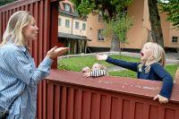 Sofia Fridell Wigström lämnar Märta, 5, och Ingrid, 2,5.