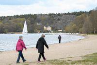 Sätrabadet vid Mälaren i Sätra i sydvästra Stockholm. Arkivbild.