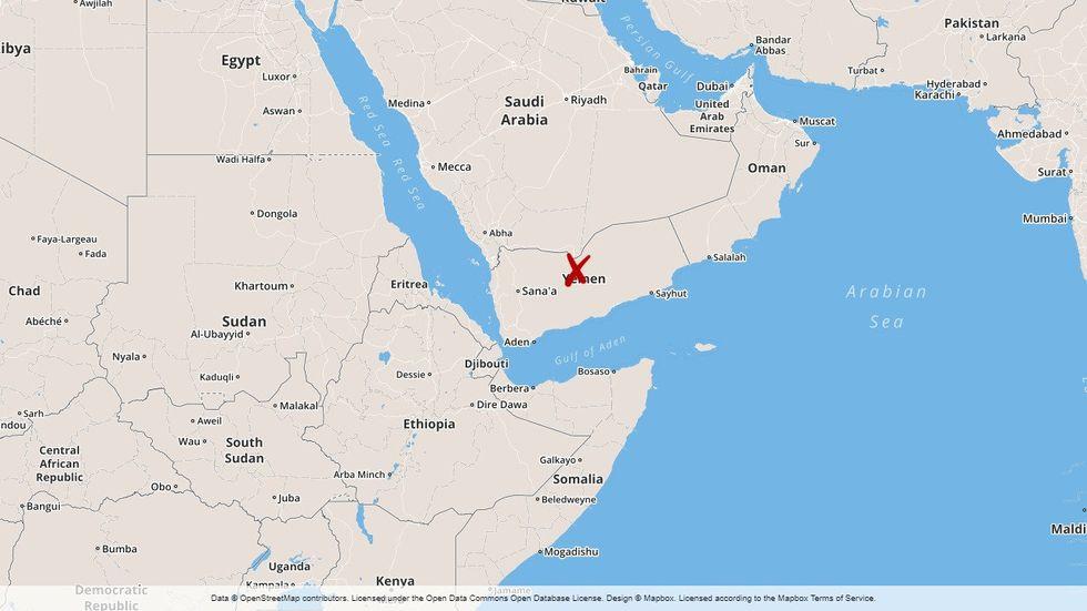 Saudiarabien och Jemen.