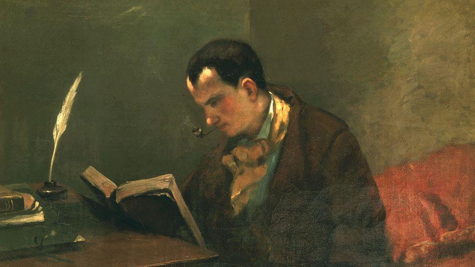 Charles Baudelaire (1821–1867), målad av Gustave Courbet.
