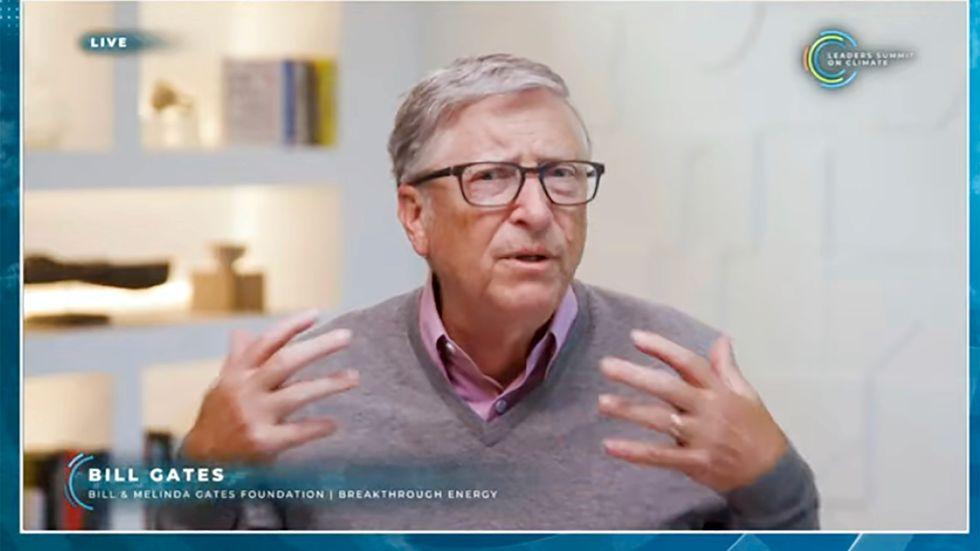Multimiljardären Bill Gates var en av talarna under klimattoppmötet.