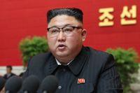 Nordkoreas ledare Kim Jong-Un under Arbetarpartiets kongress på onsdagen.