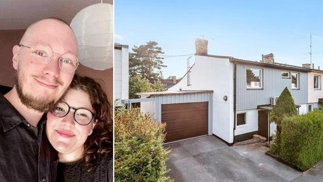 Paret Victor Österdahl och Emie Norte, som nyligen tagit ett banklån för att kunna köpa ett radhus i Hässelby.