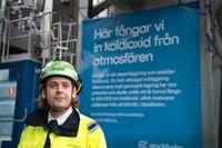 Fabian Levihn, forskningschef på Stockholm Exergi.