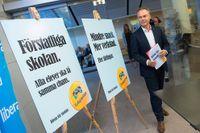 Jan Björklund presenterade i dag Folkpartiets valmanifest.