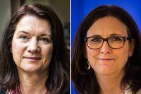 Ann Linde (S) och Cecilia Malmström (L).