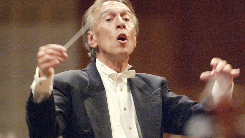 Den världsberömde italienske dirigenten Claudio Abbado har avlidit, 80 år gammal. Den här bilden är från 2005.