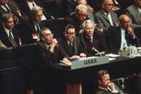 Världens ledare samlades i Helsingfors sommaren 1975, däribland Sovjets generalsekreterare Leonid Brezjnev.