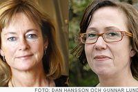 Kulturminister Lena Adelsohn (m) och kulturborgarråd Madeleine Sjöstedt (fp).