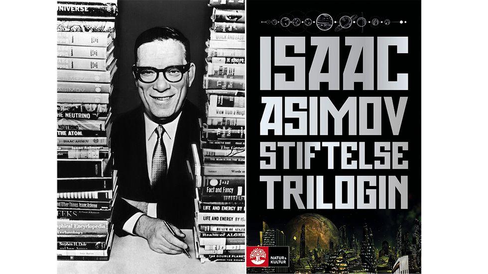 """Isaac Asimov (1922–1992). Hans """"Stiftelsetrilogi"""" räknas till de viktigaste verken i science fiction-genren."""