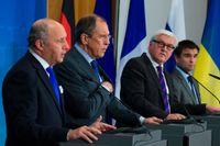 Utrikesministrar från Frankrike, Ukraina, Tyskland och Ryssland.