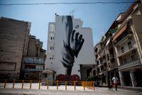 En väggmålning i Greklands huvudstad Aten. Arkivbild.