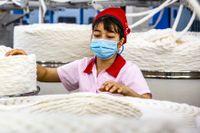 Bomullsfabrik i Kina.