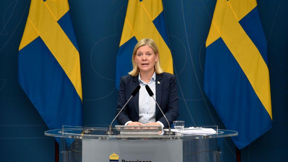 Socialdemokraterna kan ha finansminister Magdalena Andersson (S) att tacka för sitt ökade stöd, enligt en statsvetare. Arkivbild.