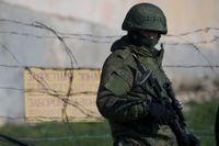 Rysk militär på annekterade Krimhalvön.
