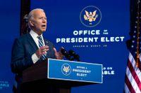 Pinsamt, sade Joe Biden om Donald Trump i hemstaden Wilmington på tisdagen.