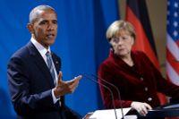 Barack Obama och Angela Merkel.
