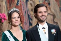 Prinsessan Sofia och prins Carl Philip på Stockholms slott 2019.