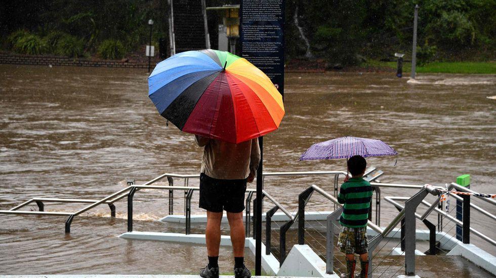 Parramattafloden i Sydney är ett av de vattendrag som har översvämmats.