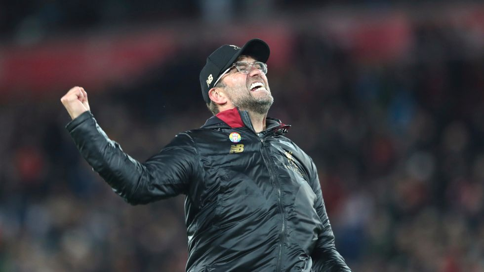 Liverpools tränare Jürgen Klopp bötfälls för sitt vilda firande mot Everton.